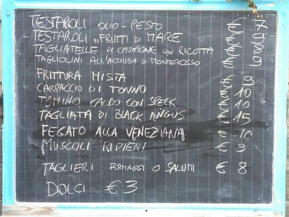 Osteria San Francesco e il lupo: menù