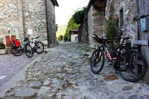 cicloturisti a Previdè