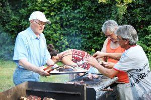 barbecue in giardino al B&B Eremo Gioioso