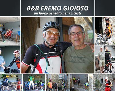 ciclisti al B&B Eremo Gioioso