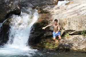 La Bio piscina formata dal fiume Magra