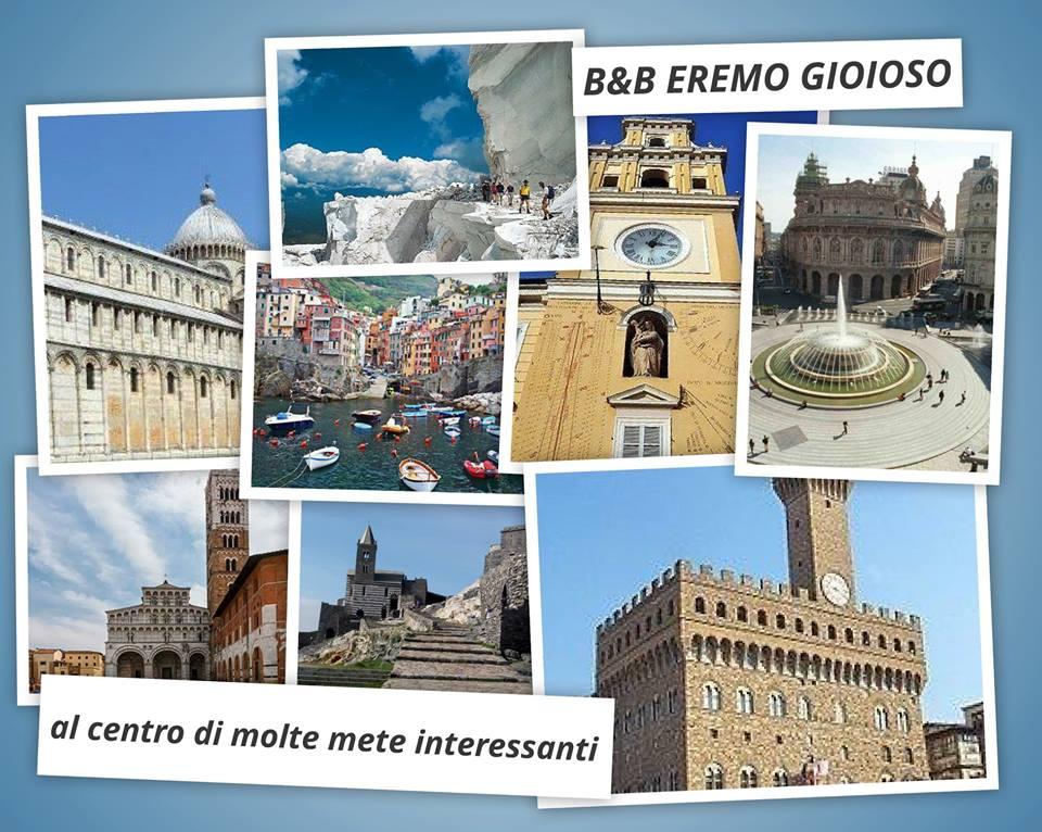 B&B in Toscana: l'eremo Gioioso al centro di mete turisticamente interessanti