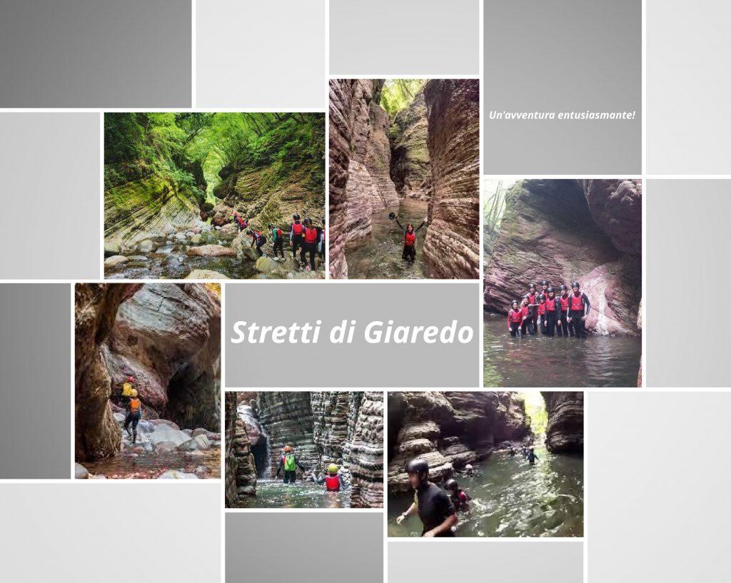 Exploring the Stretti di Giaredo with the guides